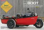 War einst schwimmfähig: Bayer-Boot an Boxer-BMW